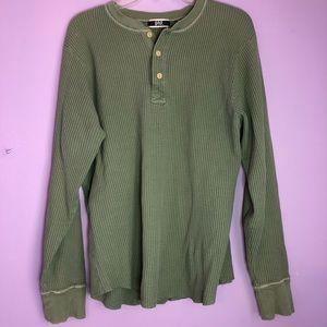 Green Gap long sleeve button up shirt